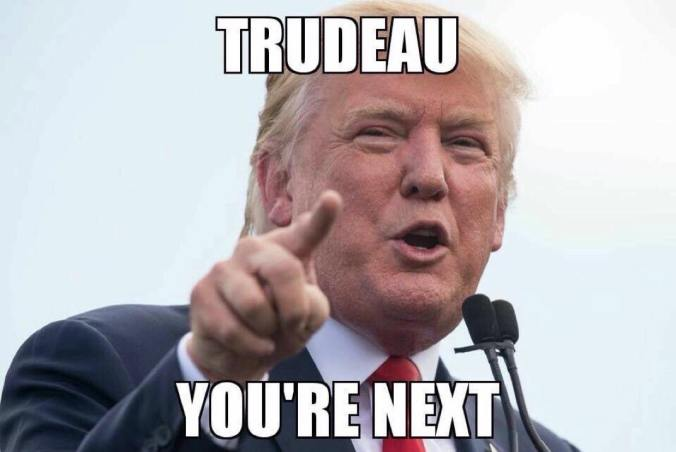 Trudeau Not Canadian right Donald